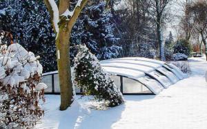 Pooltak för vinterklimat
