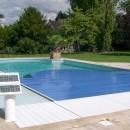 Lamelltäckning för pool