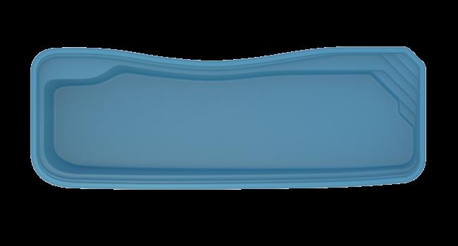 pool i glasfiber med integrerad trappa. Riverina från Compasspools