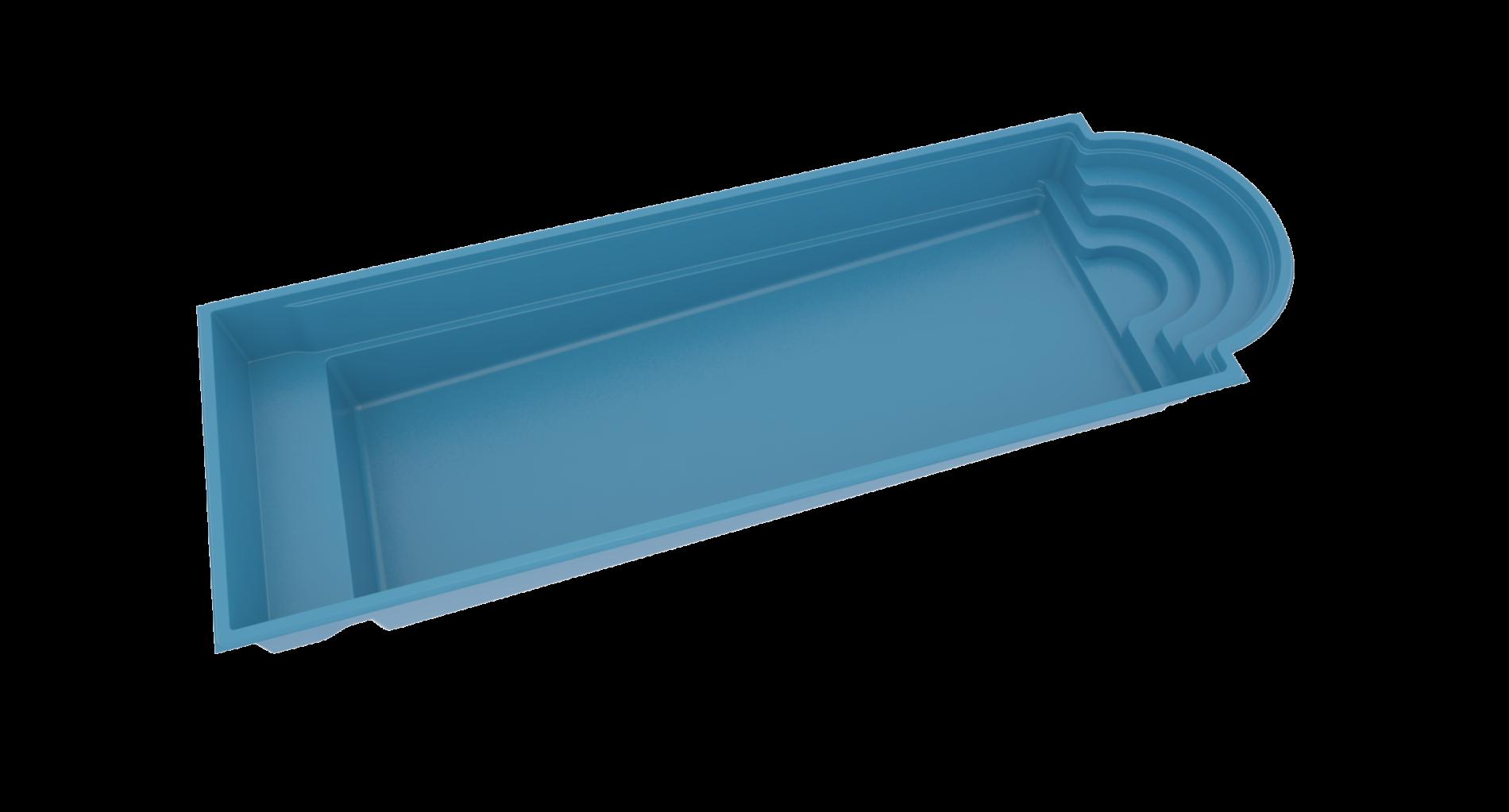 Stor glasfiberpool - Java 114