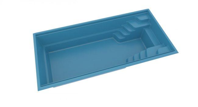 Pool Fun 74 Rektangulär glasfiberpool från Compasspool