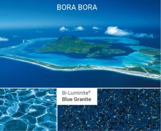 Poolfärg Bi Blue Granite på Compasspool från spaobad
