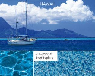Poolfärg Bi-Blue-Saphire på Compass pool från Spaobad