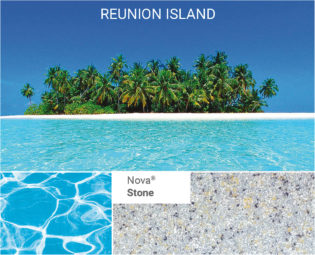 Poolfärg Nova-Stone som finns till Compass poolerna, Spa o Bad
