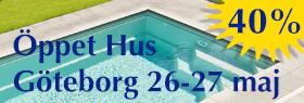 Öppet Hus i poolbutiken 26-27 maj