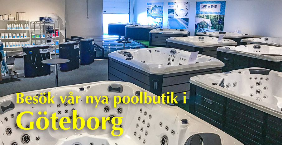 Besök vår nya poolbutik i Göteborg