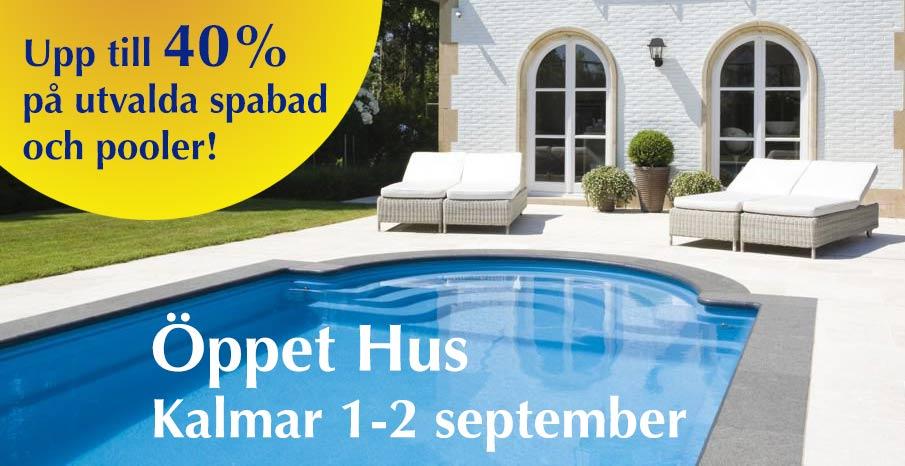 Öppet Hus i Kalmar 1-2 september. 40% rabatt!